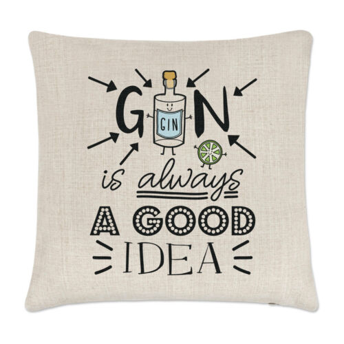 Gin est toujours une bonne idée Housse de Coussin Oreiller-Funny Lover