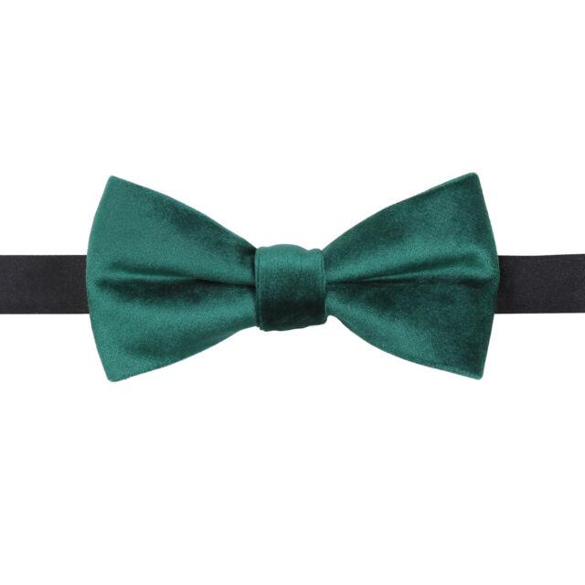 DQT Plain Velvet Emerald Green Formal Wedding Adjustable Pre-Tied Men/'s Bow Tie
