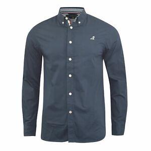 Mens-Shirt-Longsleeve-Casual-Kangol-Poplin-Top