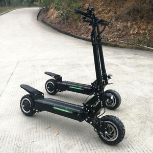 Fast Electric Scooter >> Details About Flj 5600w 60v Two Wheel 11in Folding Off Road Electric Scooter Fast New