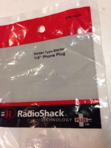 "Solder-Type-Stereo 1//4/"" Phone Plug #274-1546 By RadioShack"