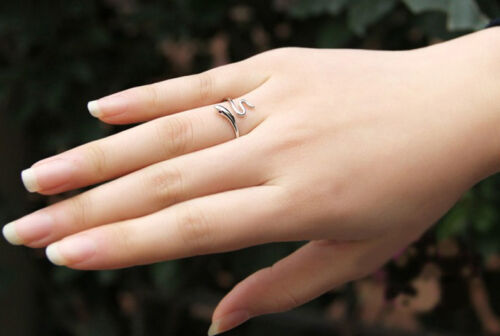 2016 STYLE  silver plated Lady Rings Fingers Opening Adjustable Snake RS