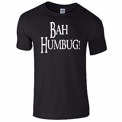Bah Humbug Christmas Funny Tee T-shirt Top Tumblr Novelty Xmas Gift Secret Santa Die Neueste Mode
