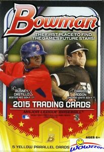 2015-Bowman-Baseball-EXCLUSIVE-Factory-Sealed-Hanger-Box-5-YELLOW-PARALLELS