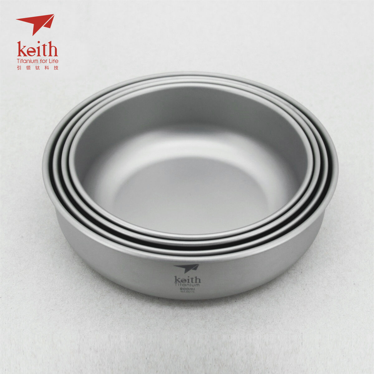 Keith Titanium Ti5376 4-Piece Bowl Set (Shipped from California, USA)