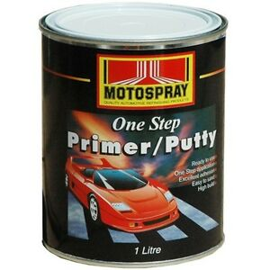 automotive paint panel spray one step primer putty 1 litre for acrylic. Black Bedroom Furniture Sets. Home Design Ideas