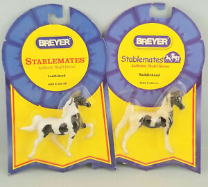Breyer-Stablemates-Standing-Translucent-amp-Opaque-Racking-Pinto-Saddlebred-Horses