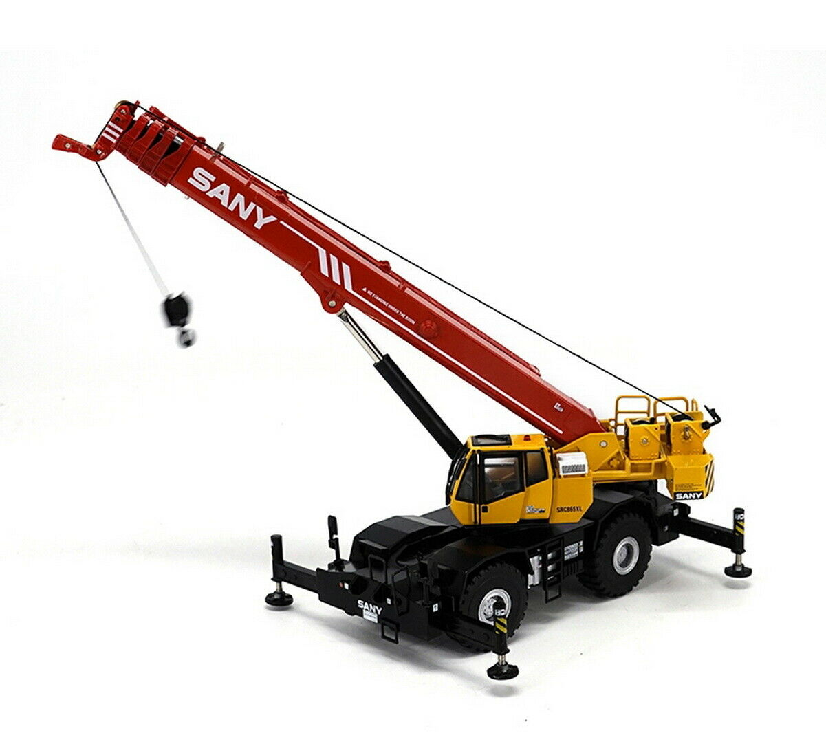 SANY 1 50 SRC550 Off-road Suspension Crane Vehicles Diecast Model Toy Collection