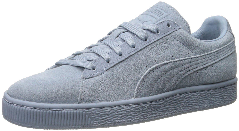 """size 40 4fc07 1d1ed Puma Clásico Gamuza Zapatillas Hombres Zapatos Niebla Azul Azul Azul Cielo  36259503 Nuevo 19147a. """""""