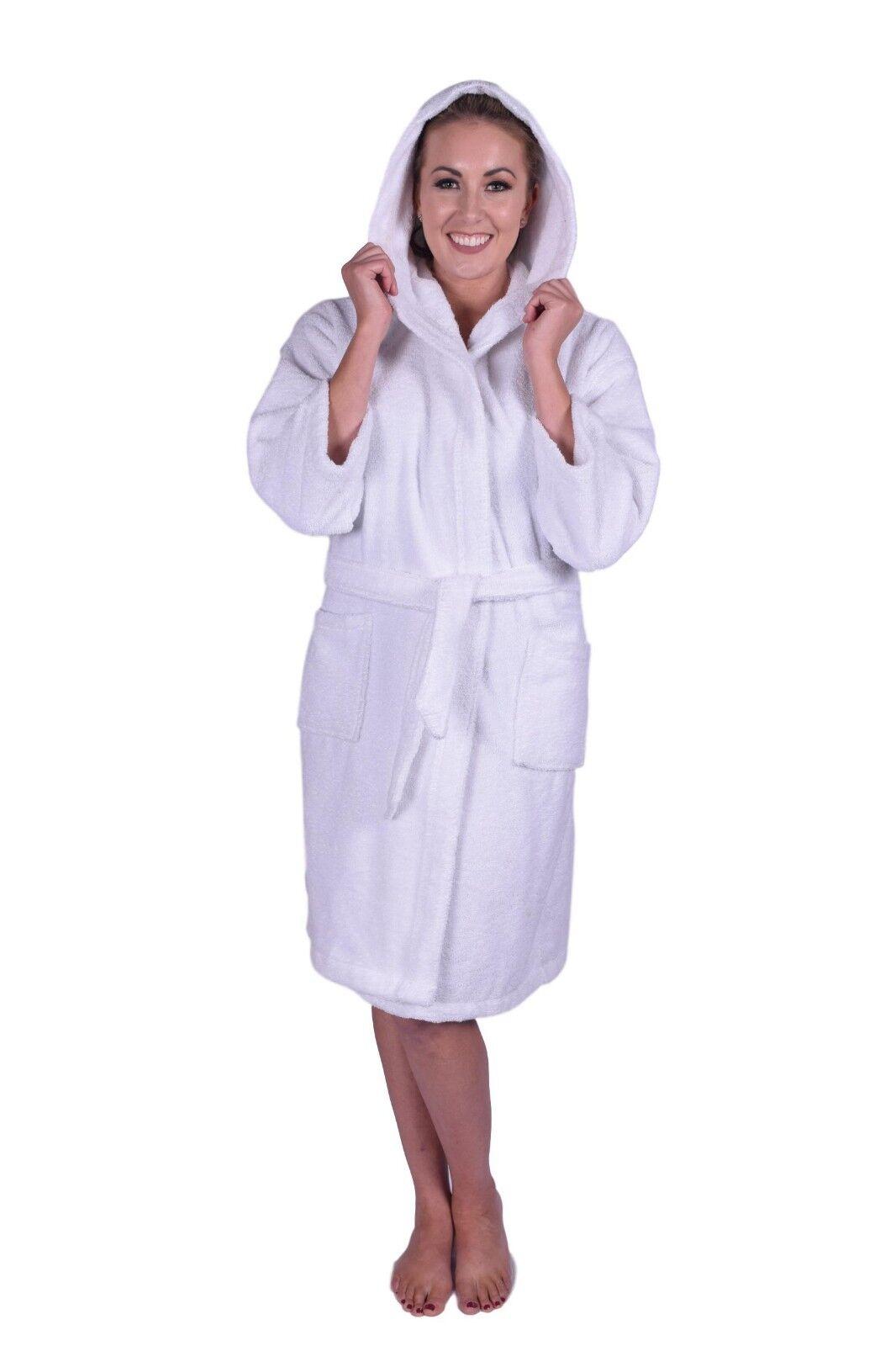Puffy Cotton Teen   Petite Unisex Unisex Unisex Hoodie Bathrobe 100% Natural Soft Cotton Robe 79d221