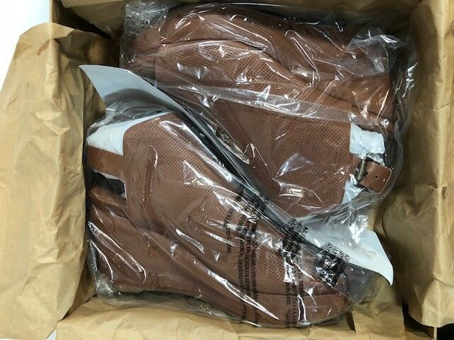 Para Souls Mujer Nuevo en Caja Gentle Souls Para Jasper Cuero Charol Sandalias de cuña marrón talla 8.5 c9bee5