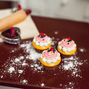 18 In Girl Doll Food Kitchen Food American Bake Shop 3pc Cupcake Set Plus Box