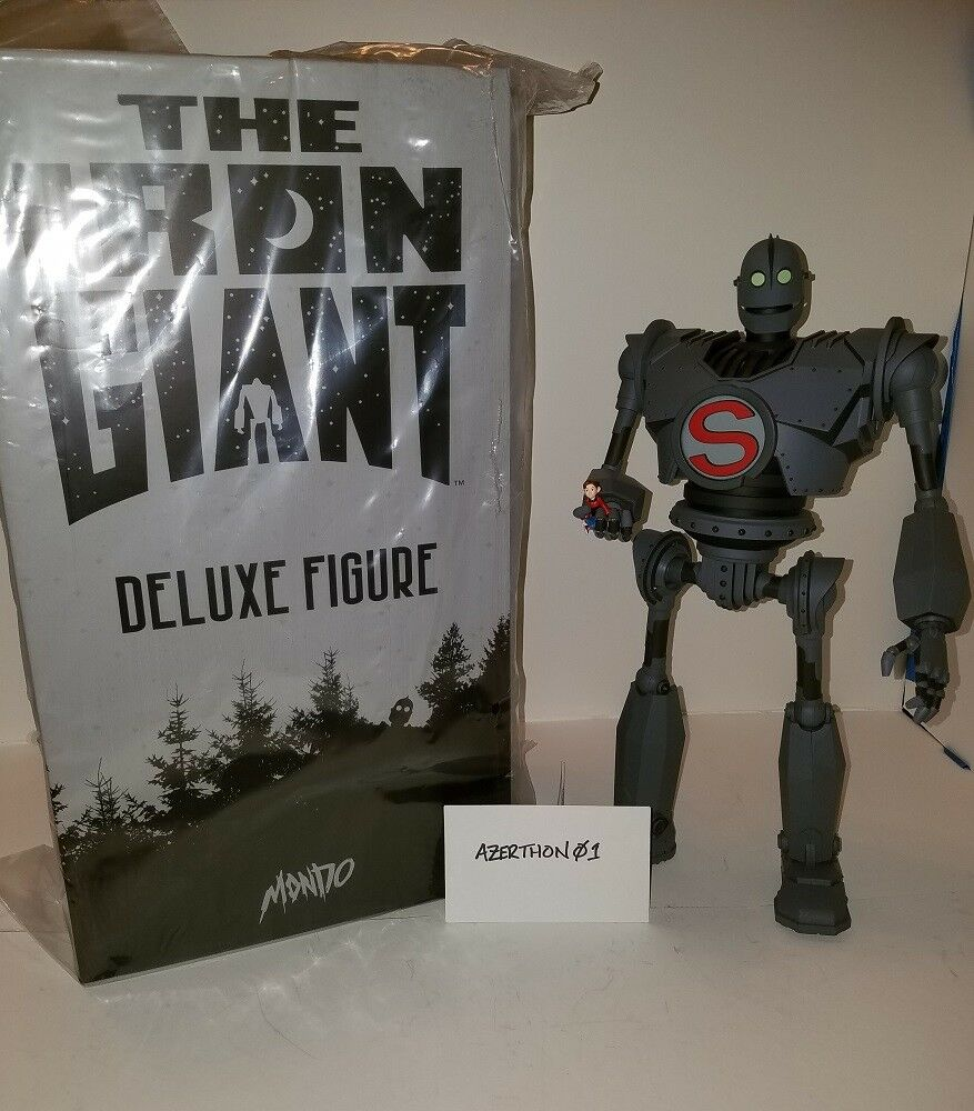 IRON GIANT FIGURE-Mondo Sideshow - 16  Tall-RARE ET LONG Sold out
