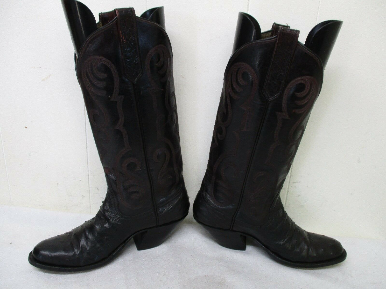 RIOS RIOS RIOS OF MERCEDES Oxblood Full Quill Ostrich Leather Cowboy Boots Womens Size 5 B bbb1ec