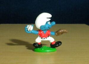 Smurfs-20166-Baseball-Smurf-Pitcher-Glove-Ball-Vintage-Figure-PVC-Toy-Schleich