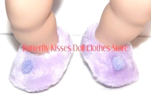 Lavender Slippers 15 in Baby Doll Clothes Fits American Girl