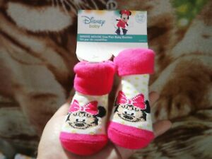 CLOSEOUT-SALE-Imported-From-USA-Minnie-Mouse-Baby-Booties-0-12M-F-3