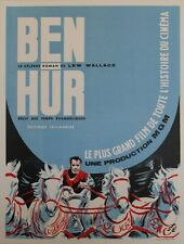 """BEN-HUR de Lew WALLACE"" Affiche originale entoilée (Editions TALLANDIER 1959)"