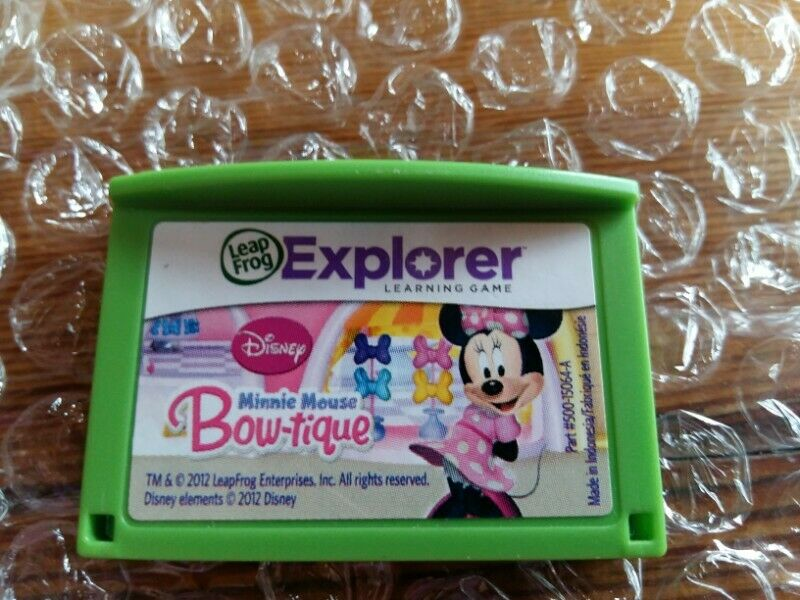 Leapfrog Explorer Learning Game –Disney Minnie Mouse Bow-tique –R200