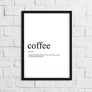 Funny-Coffee-Meaning-Print-Definition-Typography-Home-Decor-Wall-Art-Gift