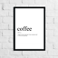 Funny-Coffee-Meaning-Print-Definition-Typography-Home-Decor-Wall-Art-Gift thumbnail 1