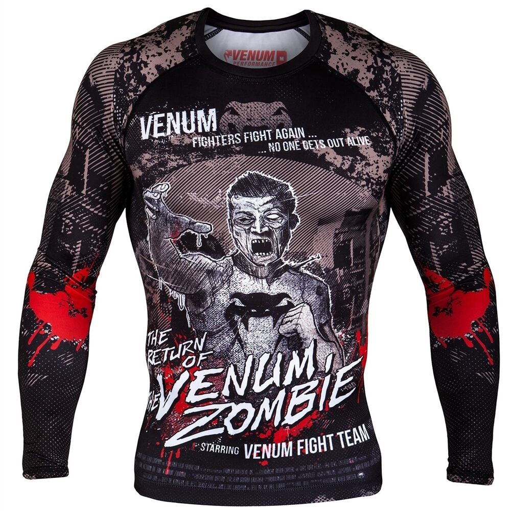 Venum Zombie Return Long Sleeve Rash Guard Rashguard BJJ No-Gi MMA Jiu Jitsu