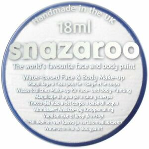 Snazaroo-18-ml-WHITE-FACE-PAINT-Fancy-Dress-Party-Stage-Make-Up-Halloween-Ghost