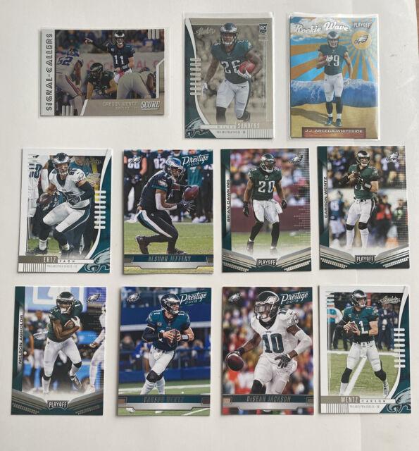 Philadelphia Eagles Football Card Lot Carson Wentz Miles Sanders RC Ertz Jeffery