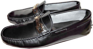 Tod-039-s-Gommino-Black-Leather-Loafers-Moccasin-Driving-Shoes-7-Uk-8-Us