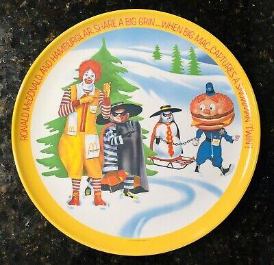 "Vintage 1977 Ronald McDonald 10/"" PLASTIC PLATE Spring Mayor McCheese Lexington"