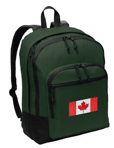 Canada Flag Backpack Canadian Flag Sturdy BACKPACKS BAG SCHOOL ...