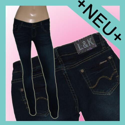 Damen Röhrenjeans Hose *darKBLue* skinnY StreTcH HüFTJeanS Gr.34-42 #J-L055
