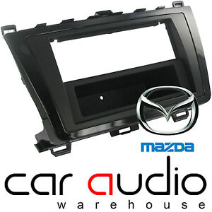 FP-26-03 Single//Double Din Black Fascia Adaptor Panel Surround for Mazda 6 2008/>