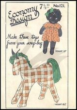 Vintage Girl Doll & Horse Economy Design Sewing Pattern Ed121