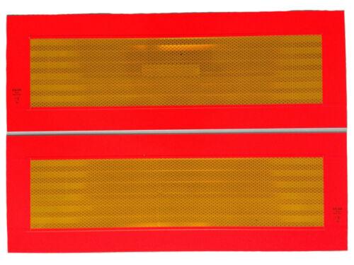 ECE70 Heckmarkierung Warntafel Hecktafel Aufkleber Anhänger Sattelauflieger