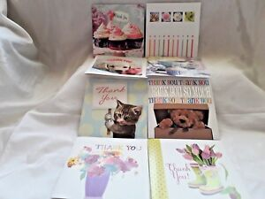 pack of 8 assorted thank you cards with envelopes teddy s cupcakes