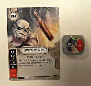 Star Wars Destiny Awakenings #14 Infantry Grenades  w// Dice