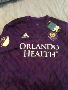 Adidas-MLS-Orlando-City-Men-039-s-Soccer-Jersey-size-M-Dom-Dwyer-Autograph-Brand-New