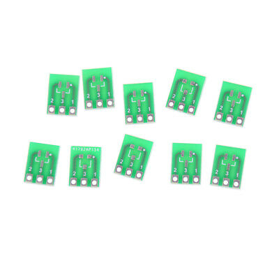 10pcs Double-Side SMD SOT23-3 to DIP SIP3 Adapter PCB Board DIY ConverteNWUS.j