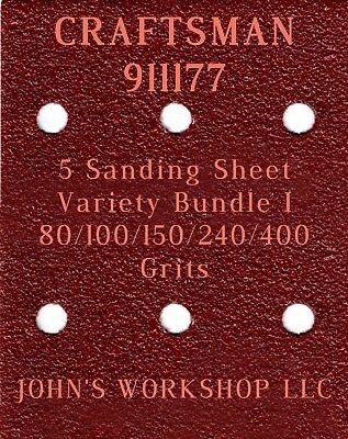 80//100//150//240//400 Grits 5 Sandpaper Variety Bundle I Bosch 1297D