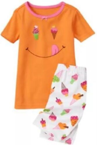 NWT 3 Gymboree ICE CREAM CONE 2pc GYMMIES cotton ORANGE Shorts TOP SET PJs