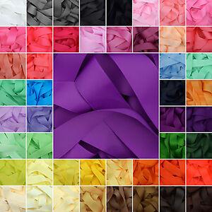 Grosgrain-Ribbon-in-64-Plain-Solid-Colours-1-3-Metre-Cuts-White-Black-Silver
