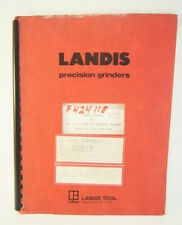 Landis Tool Precision Grinders Parts Catalog 10 14 Type 2r Machine Grinders