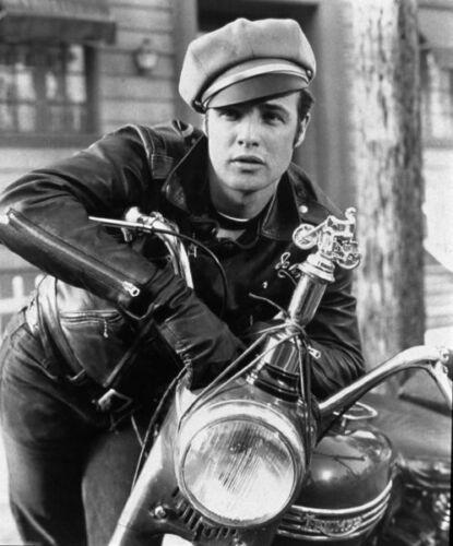 Marlon Brando with motorcycle 8x10 photo