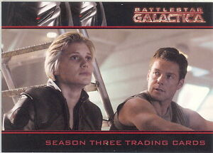 BATTLESTAR GALACTICA SEASON 3 2008 RITTENHOUSE ARCHIVES PROMO CARD P1