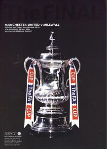 FA CUP FINAL PROGRAMME 2004 Manchester United v Millwall ...
