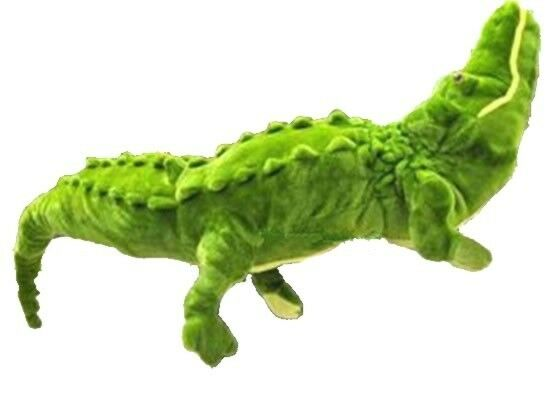 GIGANTE ENORME 59  Alligator Coccodrillo Verde Stuffed Plush regalo di compleanno