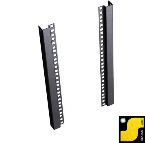 "19 Zoll 19/"" 6U Rack Profile Satz 6HE Black 48,3cm Schwarz"