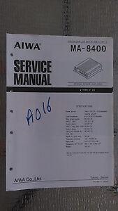 aiwa ma 8400 service manual original factory repair book car stereo rh ebay com Aiwa 5 CD Stereo System Aiwa Stereo System Repair