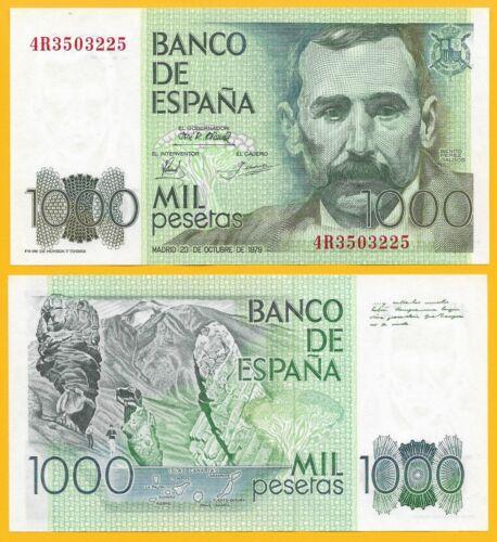 Spain 1000 Pesetas p-158 1979 UNC Banknote